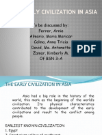 The Early Civilization in Asia