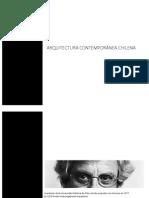 Arquitectura Chilena Contemporanea