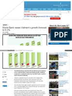World Bank Raises Vietnam's Growth Forecast to 6.2 %