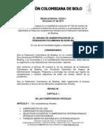 Reglamento de Bolos en Colombia
