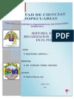 Historia de Maquinaria en El Peru