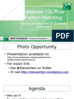 CON3450 Oracle Database 12c Row Pattern Matching - Beating the Best Pre-12c Solutions