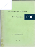 Hypergeometric Functions of Two Variables