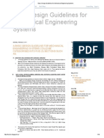 Basic Design Guidelines for Mechanical Engineering Systems