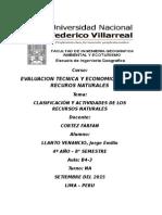 Informe Sobre Evaluacion Tecnica y Economica de Los Rrnn