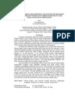 Intisari - Pengaruh Jenis Mineral dan Ukuran Butir Bahan Pengisi Terhadap Hasil Sementasi Limbah Radioaktif Cair pada Lingkungan Bergaram