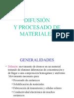Difusion y Procesado de Materiales