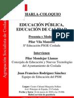 Charla-Coloquio Educación
