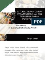 Tutorial Terapi Cairan Pada Pembedahan Dan Transfusi Darah
