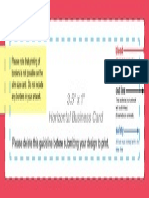 Business Card Layout Template Horizontal
