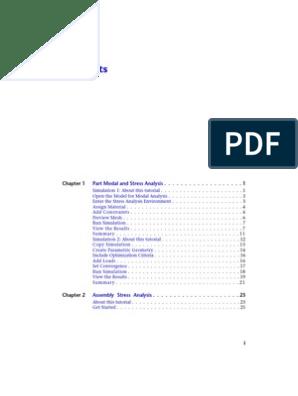 Stress Analysis INVENTOR | Stress–Strain Analysis | Simulation
