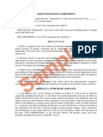 Assets Purchase Agreement