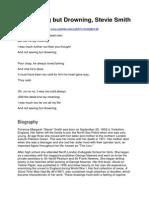 Analysis - Not Waving but Drowning