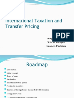 International Taxation & Transfer Pricingl