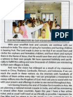 Mission of Mercy Magazine October 2009,page 3. Dr Johannes Maas, Editor