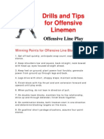 Tips and Drills for Offensive Linemen - 1