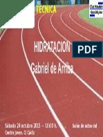 HIDRATACION - Gabriel de Arriba