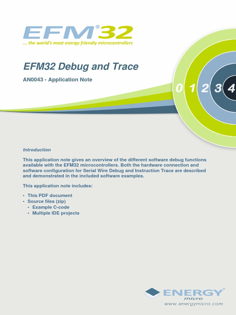 An0043 Efm32 Debug Trace Capabilities Arm Architecture Introduction To The World Of Microcontrollers Pic Microcontroller