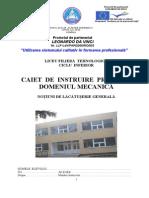 Caiet de Practica Lacatuserie Mecanica
