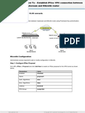 How to - Establish IPSec Connection Between Cyberoam and