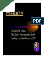 LIQUIDOS Y DEPORTE -Gabriel de Arriba