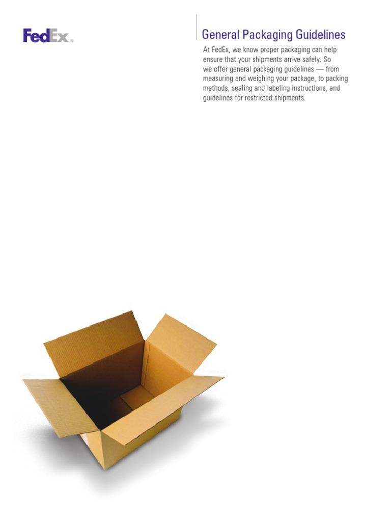 FedEx packaging guidelines   Dangerous Goods   Freight Transport