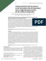 Demostraciones prácticas de los retos y oportunidades de la producción de bioetanol de primera y segunda generación a partir de cultivos tropicales