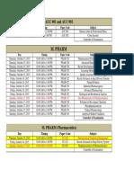 m Tech Final Date Sheet
