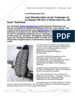 """Nokian Weatherproof Allwetterreifen ist der Testsieger im """"Auto Zeitung"""" und Nokian WR SUV 3 Winterreifen im """"Off Road"""" Reifentest"""