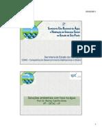 2º Seminário de URA e HIS Em SP 12-08-10 Soluções Ambientais Com Foco Na Água - Wolney