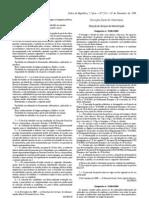 Generos alimenticios - Legislacao Portuguesa - 2009/11 - Desp nº 25484 - QUALI.PT