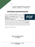 Juan de Laccruz Constancia de Participacion