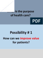 What is the purpose of healthcare?