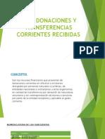 4401 Donaciones y Transferencias Corrientes Recibidas