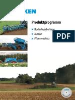 Produktprogramm Lemken 2013