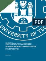 Jacek Andrzejewski Przetworstwo i Wlasciwosci Jednopolimerowych Kompozytow Poliestrowych