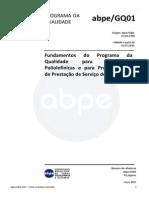ABPE - GQ01-Jul2015 - Fundamentos Do Programa Da Qualidade Para Tubulações Poliolefínicas e Para Procedimentos