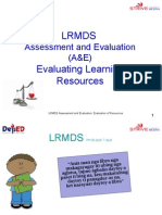1.  Evaluation of Resources