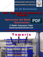Capítulo 1 - Operación Del Sistema de Generación 2015