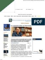 La Comunicación en Venezuela