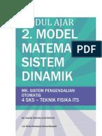2. Model Matematis Sistem Dinamik - Modul Ajar