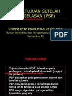 PSP Dan Contoh Naskah Dan Form Persetujuan PSP