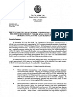 New York City Department of Investigation Hynes Report
