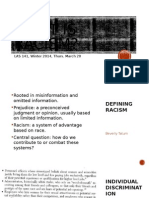Lecture What is Racism