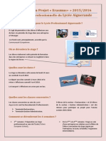 Présentation du Projet Erasmus+ au Lycée Polyvalent Aiguerande (2015-2016)