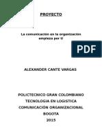 PROYECTO comunicacion organizacional
