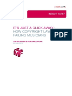 Its Just a Click Away - How Copyright Law is Failing Musicians 23.10.15