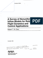 A Survey of Nonuniform Inflow Models for Rotorcraft Flight Dynamics and Control Applications