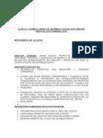 Plan de Trabajo Centro de Alumnos Colegio Alto Palena (Ejemplo)