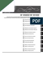 Ricoh Aficio Sp 3500sf 3510sf - Manual